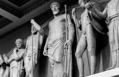 Greek God statues